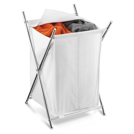 Honey Can Do Folding Hamper with 2 Sorters and Steel X-Frame, (Sorter Folding)