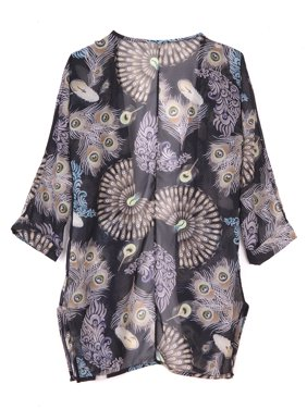 LELINTA Womens Floral Print Half Sleeve Cover Up Beach Swimsuit Bikini Cover Up Tassel Summer Beach Dresses for Women Plus Size Bathing Suit Online
