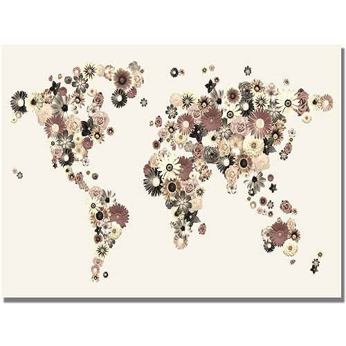 "Michael Tompsett ""Flowers World Map""."