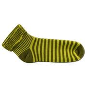 Maggie's Organics - Snuggle Socks, Cotton Green Stripe 9-11