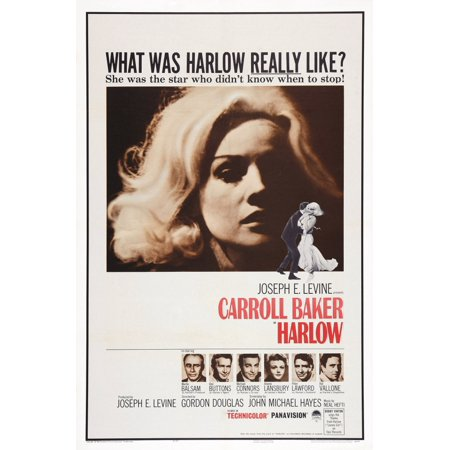 Harlow Poster Art Top Carroll Baker As Jean Harlow Bottom L-R Martin Balsam Red Buttons Michael Connors Angela Lansbury Peter Lawford Raf Vallone 1965 Movie Poster Masterprint ()