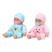 """My Sweet Love Happy Twins Play Set, 6 Pieces Featuring Two 13"""" Soft Body Dolls, Perfect for Children 2+"""