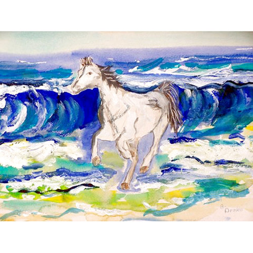 Betsy Drake Interiors Horse and Surf Placemat (Set of 4)