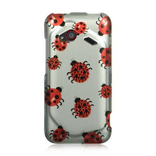 Htc Droid Incredible 4G Lte Spot Diamond Case Silver Ladybug