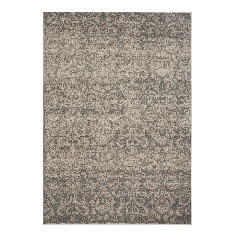 Dynamic Rugs 1217-900 Mysterio Area Rug Silver 2-ft 3-ft 11-in