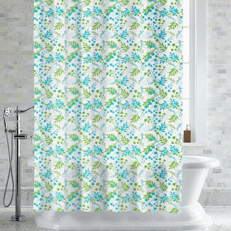 PEVA EVA Shower Curtain Liner Bruno Foliage Print 70 X