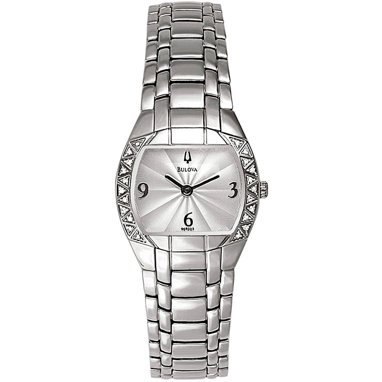 BULOVA Ladies 96R003 Stainless Steel and Diamond Watch wi...