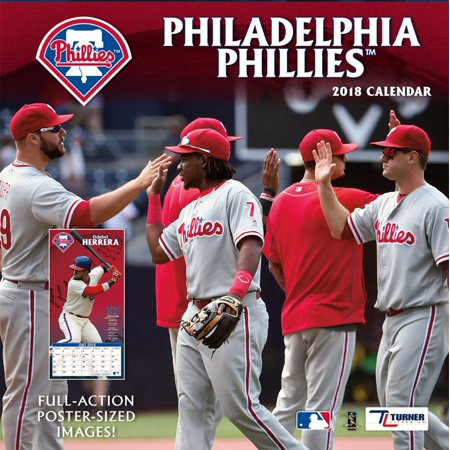 TURNER SPORTS PHILADELPHIA PHILLIES 2018 12X12 TEAM WALL - 2010 Sports Teams Calendar