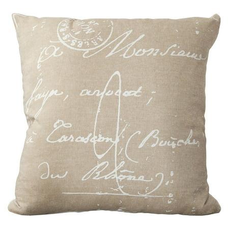 Surya Classical French Script Decorative Pillow - French Decorative Pillow