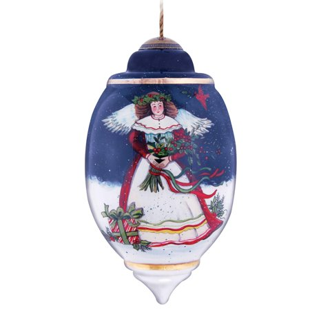 """Ne'Qwa """"Christmas Eve Blessings"""" Hand-Painted Blown Glass Ornament #7131103 - image 2 of 2"""