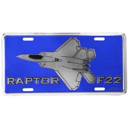 U.S. Air Force F22 Raptor Metal License Plate - image 1 de 1