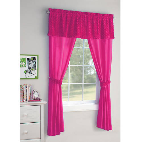 Your Zone 5-Piece Poodle Girls Bedroom Curtain Set by Generic