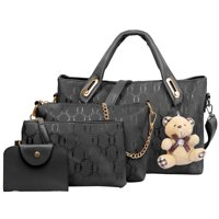4-Piece N.Polar Women's Leather Handbag