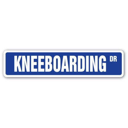 KNEEBOARDING Street Sign skiing skis watersports kneeboard boogie | Indoor/Outdoor |  24