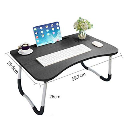 Widousy Laptop Bed Table Breakfast Tray with Foldable Legs Portable Lap Standing Desk 'Notebook Stand Reading Holder - image 4 of 5
