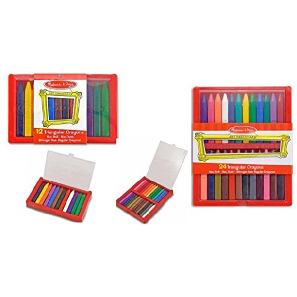 Melissa and Doug Trianguar Crayons 12 Color and 24 Color ...