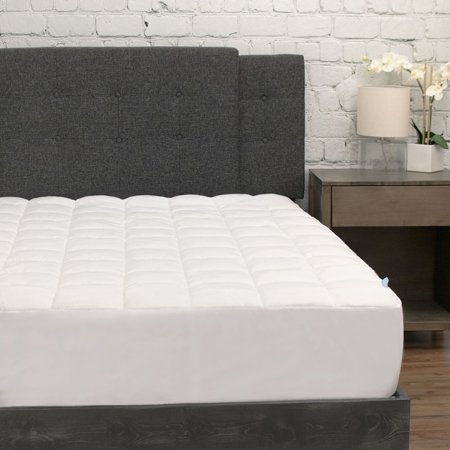 Quot Plush Mattress Pad With Deep Fitted Skirt Quot Walmart Com