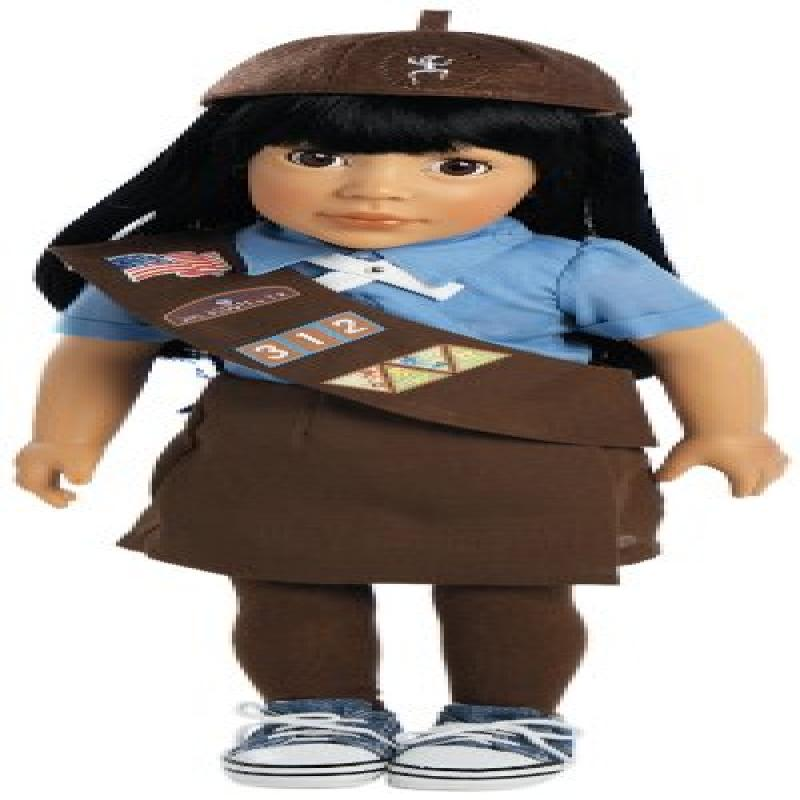 "Adora Play Doll Ava - Girl Scout Brownie 18"" Doll & Costume"