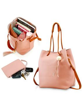 ae4e5c4094f5c1 Product Image Fashion Tassel buckets Tote Handbag Women Messenger Hobos  Shoulder Bags Crossbody Satchel Bag - Red