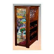"""Post Alley"" by Kim Drew Wine Cabinet"