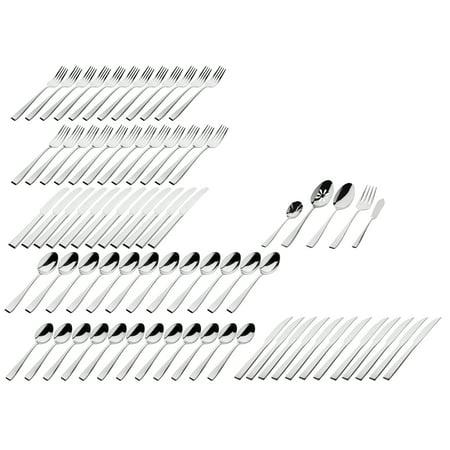 Godinger 77 pc Flatware set Chisel 18/0