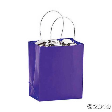 Mini Purple Gift Bag (2 dozen) - Bulk [Toy]