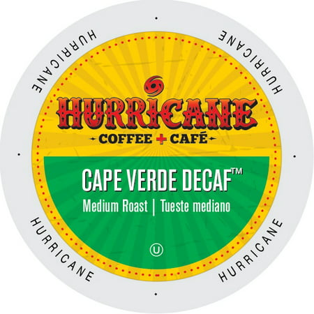 Cape Verde Nylon - Hurricane Coffee And Tea Cape Verde Decaf, RainforestAlliance, Single Serve Cup Portion Pack for Keurig K-Cup Brewers, 96 Count