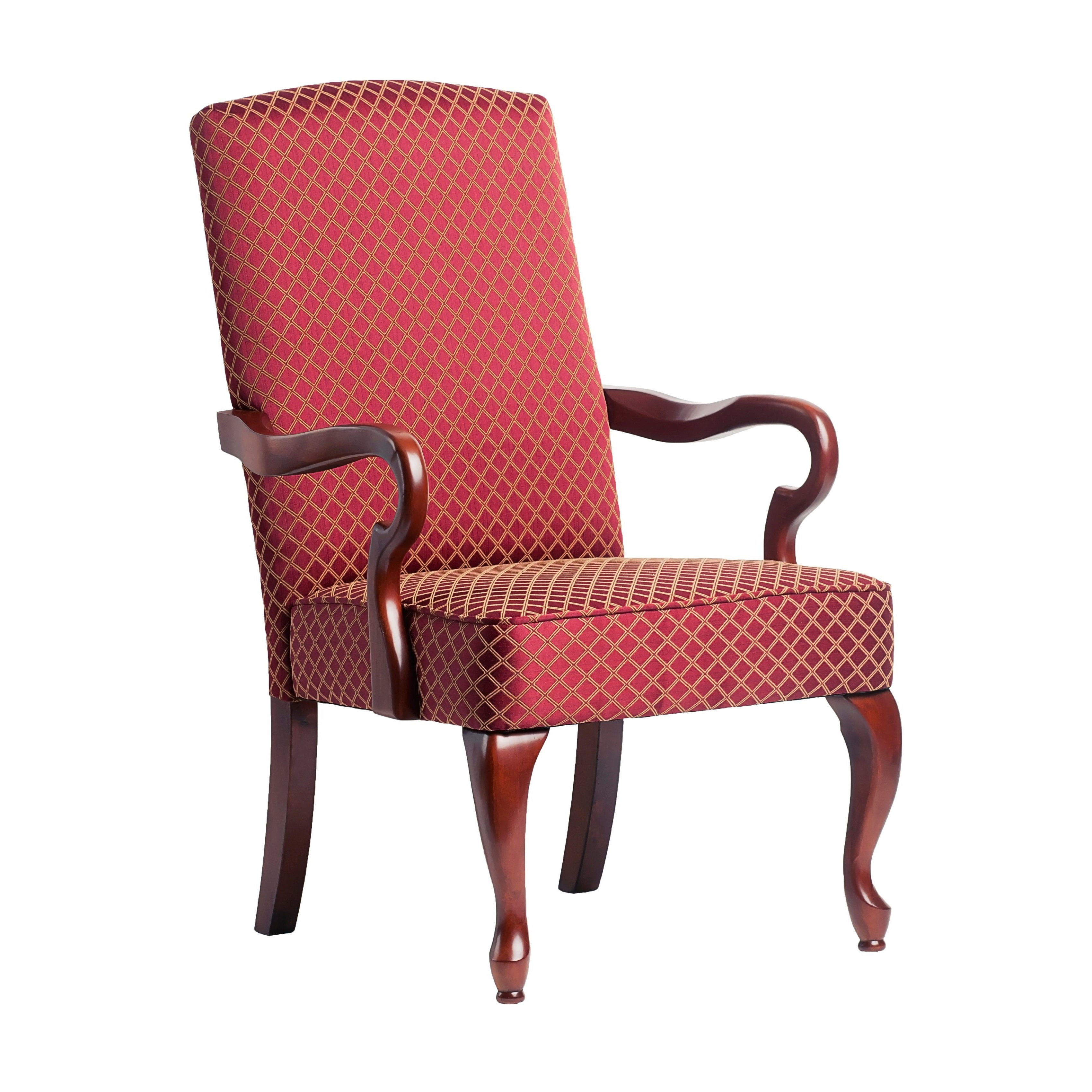 Greyson Living  Dayton Cherry Finish Gooseneck Accent Chair OS-6700
