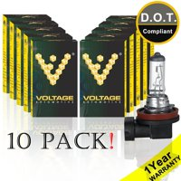 Voltage Automotive H11 Headlight Bulb - Standard Replacement For Low Beam High Beam Fog Lights