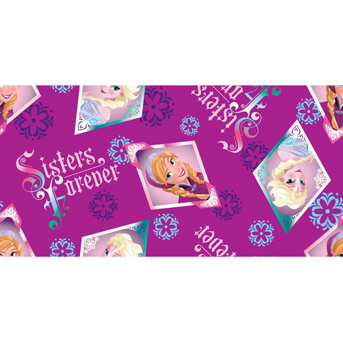 "Disney Frozen Sisters Forever Floral Badge Toss Fabric, 43/44"" Wide, Sold by the Yard"