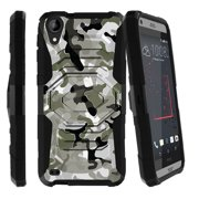 HTC Desire 530 Case | HTC Desire 630 Case [ Armor Reloaded ] Extreme Rugged Protection Case with Holster and Built In Kickstand - Swamp Camo