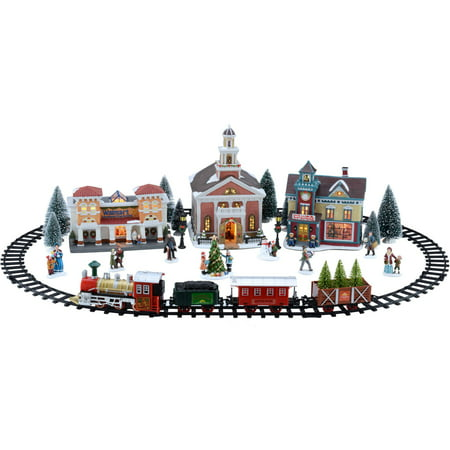 Holiday Time Battery Operated Train Set Christmas Village
