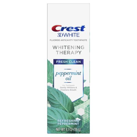 Crest 3D White Whitening Therapy Toothpaste, Peppermint Oil, 4.1 oz