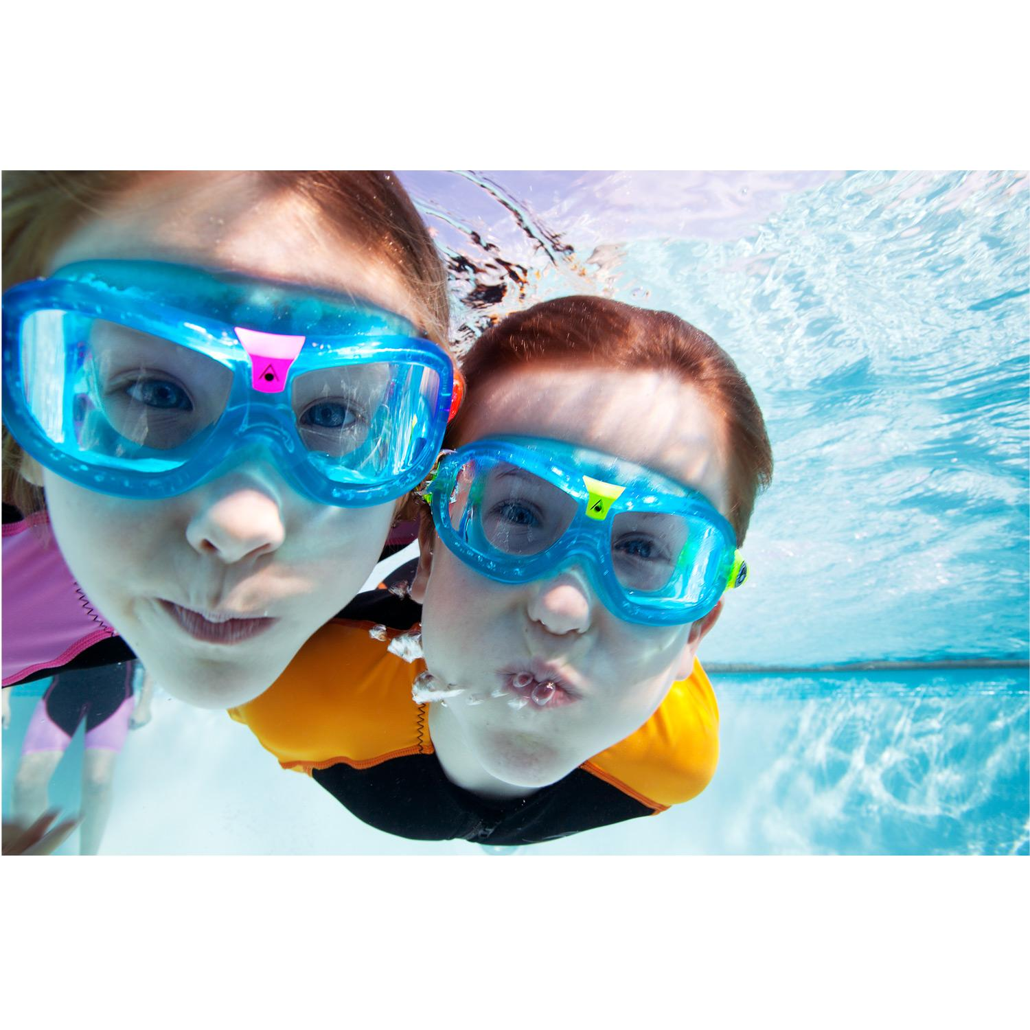 830f002d3d Aqua Sphere Seal Kids Swimming Goggles in blue with Clear Lenses -  Walmart.com