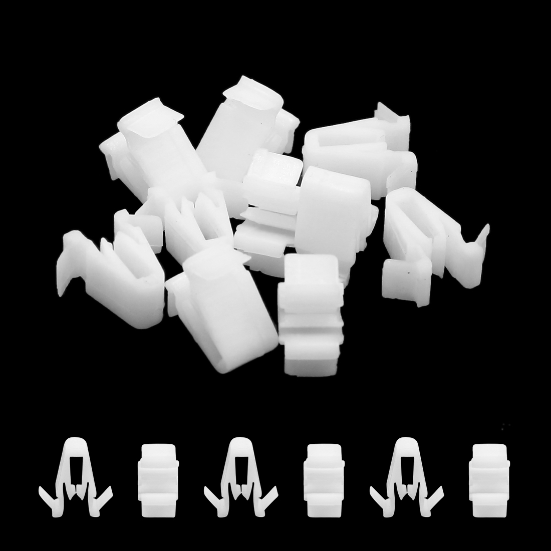 10Pcs White Plastic Rivets Dashboard Panel Retainer Clips Fastener for Car