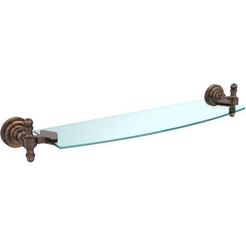 "Retro Dot 18"" Glass Shelf (Build to Order)"