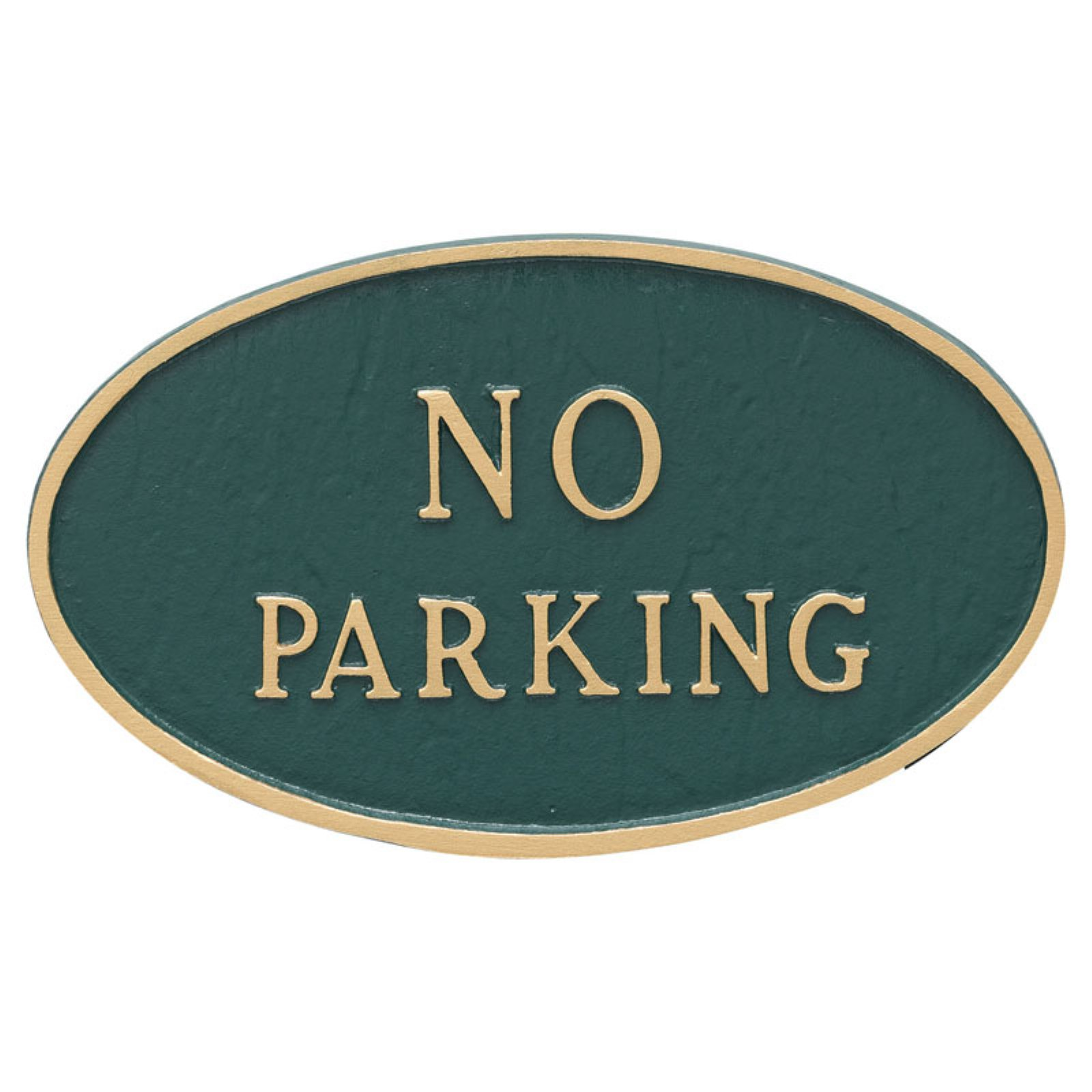 Montague Metal Products No Parking Oval Wall Plaque