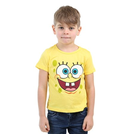 58187a2a71d Kids Spongebob Squarepants Face Costume Shirt - Walmart.com