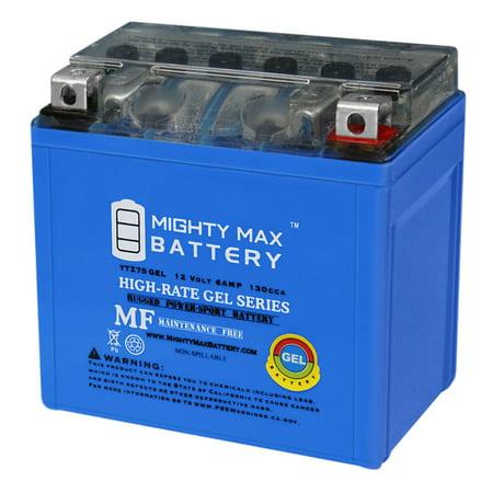 12V 6AH GEL Battery for Polaris 50 Outlaw, Predator (-'07) '04-'16 (Polaris Outlaw 50 Battery)