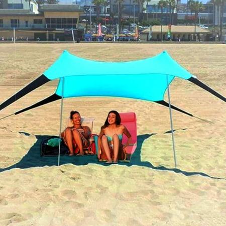 Sol Shade Portable Easy Pop Up Beach Stretch Fabric Sun