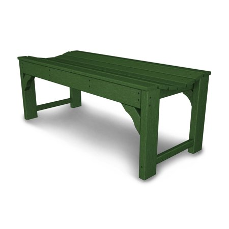 Polywood Traditional Deck - POLYWOOD® Traditional Recycled Plastic Backless Garden Bench