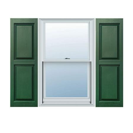 12 x 43 Builders Choice Vinyl Raised Panel Window Shutters w Shutter