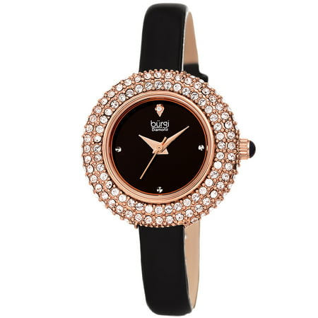 Rose Gold Tone Dress Quartz Watch With Leather Strap - Rose Tone Watch