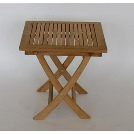 18 5 Quot Natural Teak Wooden Square Outdoor Patio Folding