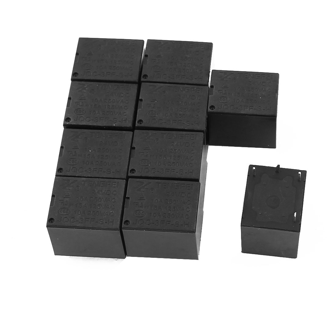 10 Pcs 24VDC 250VAC 10A 4 Terminal SPST NO  Power Coil Electromagnetic Relay - image 2 of 2