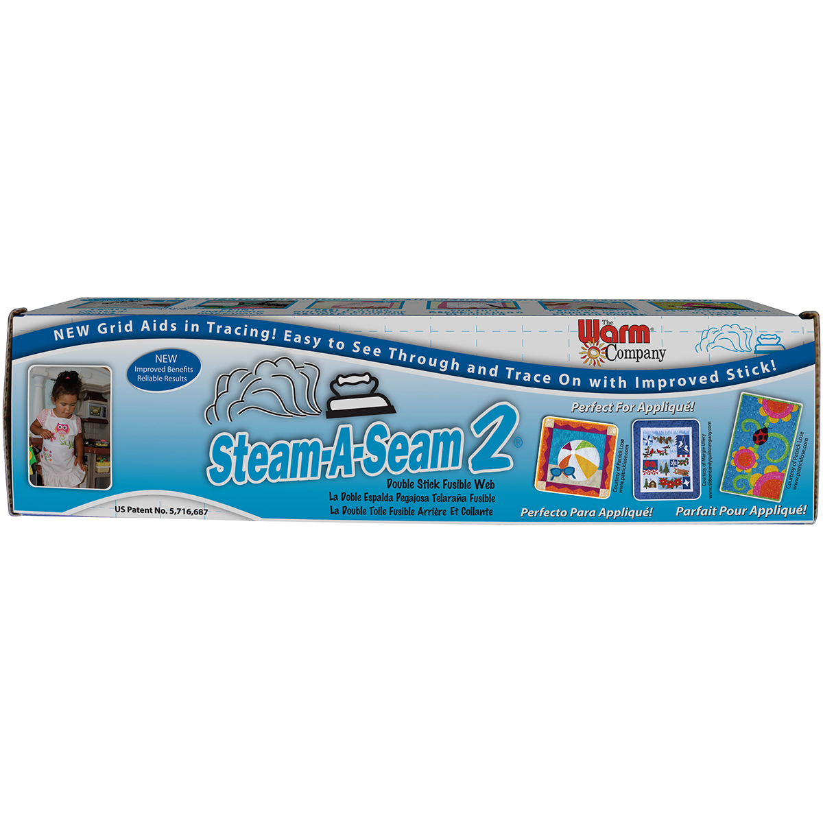 "Steam-A-Seam 2 Double Stick Fusible Web, 18"" x 25 yds"