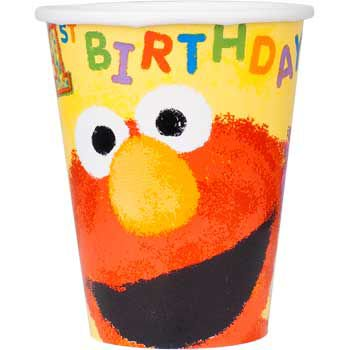 Sesame Street 1st Birthday Cups (18-pack) - Party Supplies
