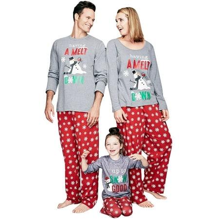 Starvnc 2 Piece Christmas Matching Family Pajamas Set Home Pajamas Sleepwear Suit
