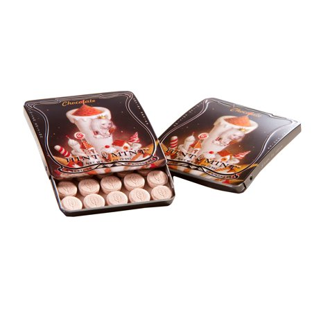 Hint Mint Classic Mints Nicoletta Ceccoli Artist Series Sweet As The Night Chocolate Peppermint Flavor 0.81 Oz. Curved Chic Tin With 35 (Holiday Mint Tins)