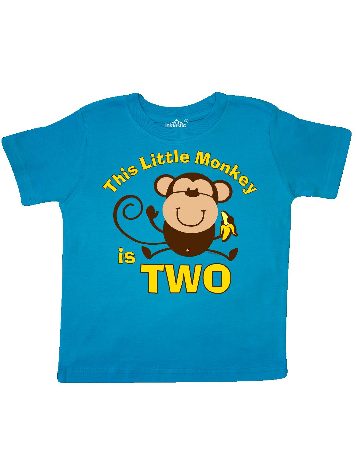 inktastic Little Monkey Girl 2nd Birthday Toddler T-Shirt
